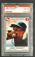 1990 Post Food Issue Cereal #3 Kirby Puckett HOF Minnesota Twins PSA 8 NM-MT