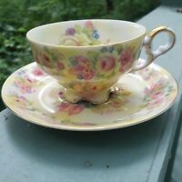 SIGNED HAND PAINTED LEFTON TEA CUP AND SAUCER