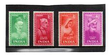 India GV1 1952 Saints/Poets p/set to 4.1/2a sg 337-39 & 341 H.Mint