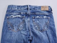 Women's Hollister Vintage Boyfriend Destroyed Jeans Medium Wash Size 0 W24x26""