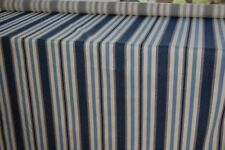 BLUE/WHITE STRIPED UPHOLSTERY FABRIC.   2 METRES X 144 cms wide PACK 785