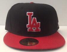 New Era 59/50 Fitted Hat - Los Angeles Dodgers (Black/Red)
