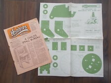 HOBBIES WEEKLY MAGAZINE NOVEMBER 1st 1950 FREE DESIGN PULL ALONG TOY CAT