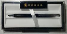 CROSS Avitar Premium Ballpoint Pen Black & Chrome Finish Nice Gift w/box