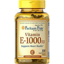 OHO Vitamins Puritan's Pride 1000 IU Soft Gels,100 Count NEW Free Shipping Gift
