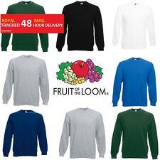 Fruit of the Loom Mens Raglan Sweatshirt Sweater Jumper