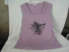 "Damen Top Shirt Bluse ""Bonita"" Gr. XL dkl. flieder ohne Arm"