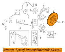 MINI OEM 11-14 Cooper Countryman Front Brake-Disc Rotor 34119811538