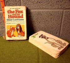 FOX & HOUND card game Copper & Tod beat-up game Disney cartoon 1981