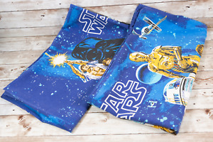 Vintage Star Wars A New Hope x2 Pillow Cases 1977