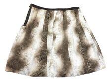 Jones New York Size 16W Brown Beige Snake Animal Pleated Knee Length Skirt