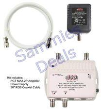 PCT 2-Port Cable TV OTA HDTV Amplifier Splitter Signal Booster
