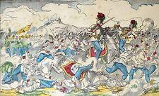 imagerie d'EPINAL PELLERIN litho XIXe rehaussée BATAILLE de SADOWA 1866