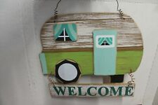 J1 Rv Camper Welcome Travel Trailer Rustic Decor Country Wooden Hanging Sign