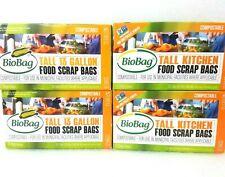 BioBag Food Scrap Compost Bin Green Bags, Small 13 Gallon, Compostable 48 Count