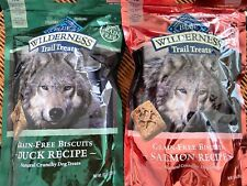 10 bags Blue Wilderness Trail Treats Grain-Free Dog Biscuits SALMON & DUCK 10-oz