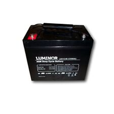 Batteria LUMINOR LDC12-80 - AGM DEEP CYCLE - 12V/80Ah - stazionaria