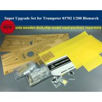 TMW 1/200 Super Upgrade Set for Trumpeter 03702 Bismarck Ship Model