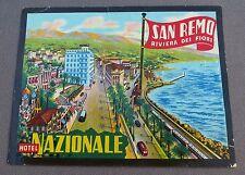 HOTEL NAZIONALE SAN REMO ITALIE ancienne étiquette d'hotel bagages