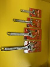 "Craftsman 4 Piece Adjustable Wrench Set 6"" 8"" 10"" 12"" NEW"