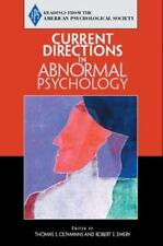 Current Directions In Abnormal  Psychology By Thomas F. Oltmanns And Robert E.