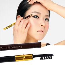 Brown Black Eye Liner Waterproof Leopard Eyebrow Eyeliner Pencil Brush WFEU