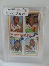 "TOPPS  ""HANK AARON""  BASEBALL CARD - SIGNED !!!! - RARE!!!"