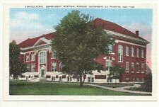Postcard INDIANA  Lafayette Purdue University Agricultural Experiment Station