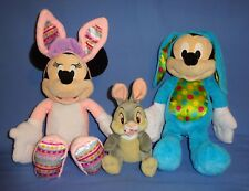 Disney plush Mickey Mouse Easter Bunny-Minnie Mouse Rabbit Costume;Thumper-LOT-3