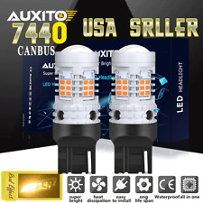 AUXITO 7440 CANBUS Error Free LED Turn Signal Light Bulbs Amber No Hyper Flash