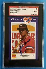 1985 Huntsville Stars (As) Minor League Autographed Set CANSECO cert. 15 autos
