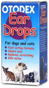 Petlife Otodex Ear Drops For Pet Dogs Cat Clears Wax Mites Cleanser Itching 14ml