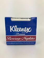Vintage Box of Kleenex Premium Beverage Napkins 1989 New (old stock)