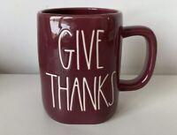 Rae Dunn Thanksgiving Fall By Magenta GIVE THANKS LL Farmhouse Burgundy Mug