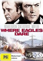 Where Eagles Dare * NEW DVD * (Region 4 Australia)