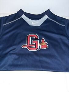 Nike Gwinnett Braves Shirt Youth XLarge Nike Dri Fit Athletic Cut Baseball Tee