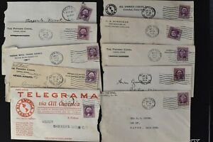 CANAL ZONE Postal History COVER LOT #3 80+ #115 3c Many Corner Cards $$$$