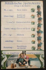 1916 Hungary Picture Postcard Cover Military Menu In The Barracks