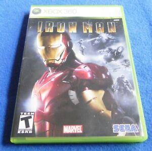 Iron Man (Microsoft Xbox 360, 2008)  - Game + Case & Manual - Tested - Marvel