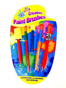 NEW 5 PCS CREATIVE PAINT BRUSHES KIDS ART CRAFT ARTIST PAINTING BRUSH SET(6828)