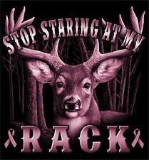 STOP STARING AT MY RACK BIG BUCK DEER BLACK TEE SHIRT SIZE XXL adult T311 tshirt