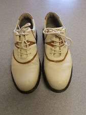 ECCO beige and brown, Goretex lined golf shoes. Women's 7-7.5 (eur 38)