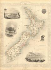 NEW ZEALAND showing NZ Company settlements in 1851. TALLIS & RAPKIN 1851 map