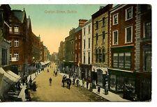 Grafton Street Scene-Stores-Shops-Buildings-Dublin-Ireland-Vintage Postcard