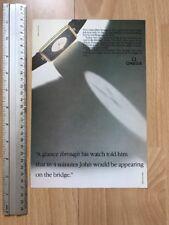 Omega Gold Quartz 1984 Advertisement Pub Ad Werbung