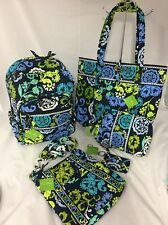 Vera Bradley Disney Where's Mickey Backpack Hipster XL Vera Tote Cosmetic Bag +