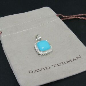 Turquoise and diamond necklace with sterling silver and hematite