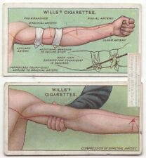 Early 1900s First Aid Improvised Tournequet Brachail Artery 2 Trade Ad Cards 11
