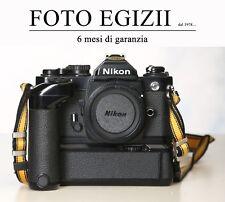 NIKON FM2 - BLACK - CORPO CON MOTOR DRIVE MD12 USATO PERFETTA GARANZIA 6 MESI