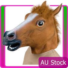 Adult Horse Head Mask Latex Animal Zoo Party Halloween Gangnam Style Costume